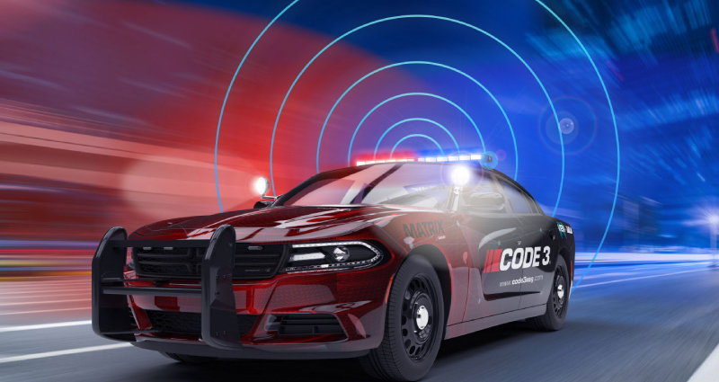 Macomb County's connected police cars clear safer, faster path through traffic